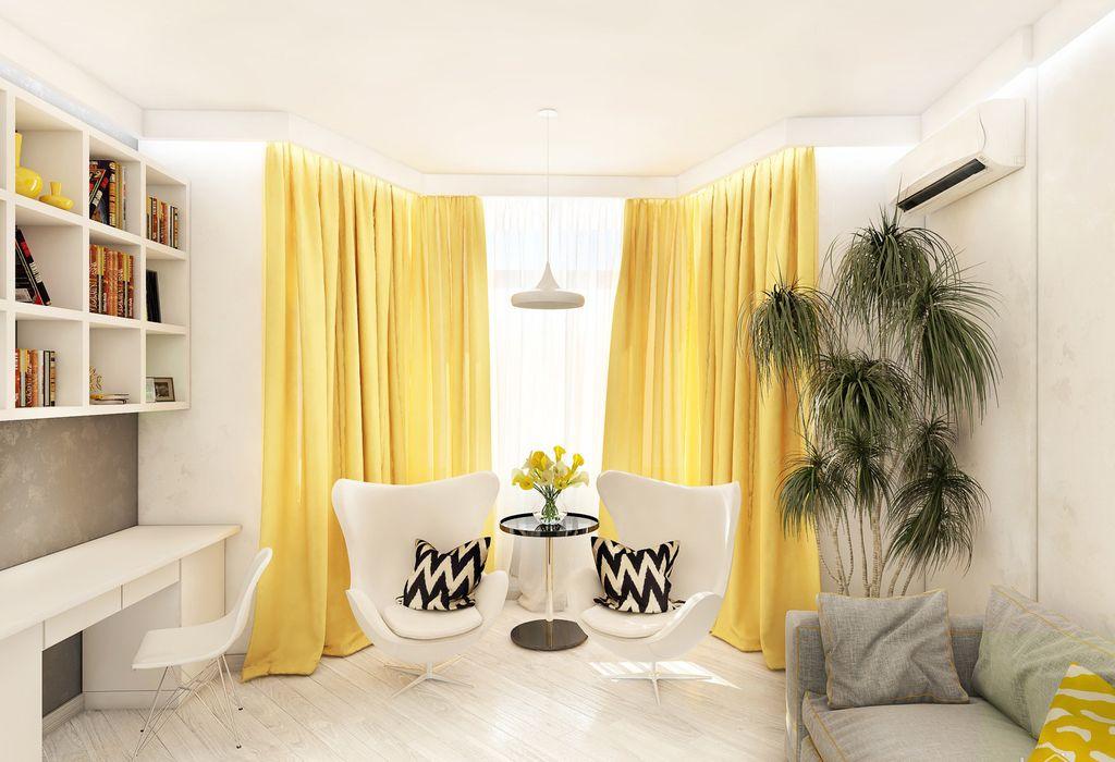 В сочетании с бежевым желтый стимулирует активность и создает ощущение тепла