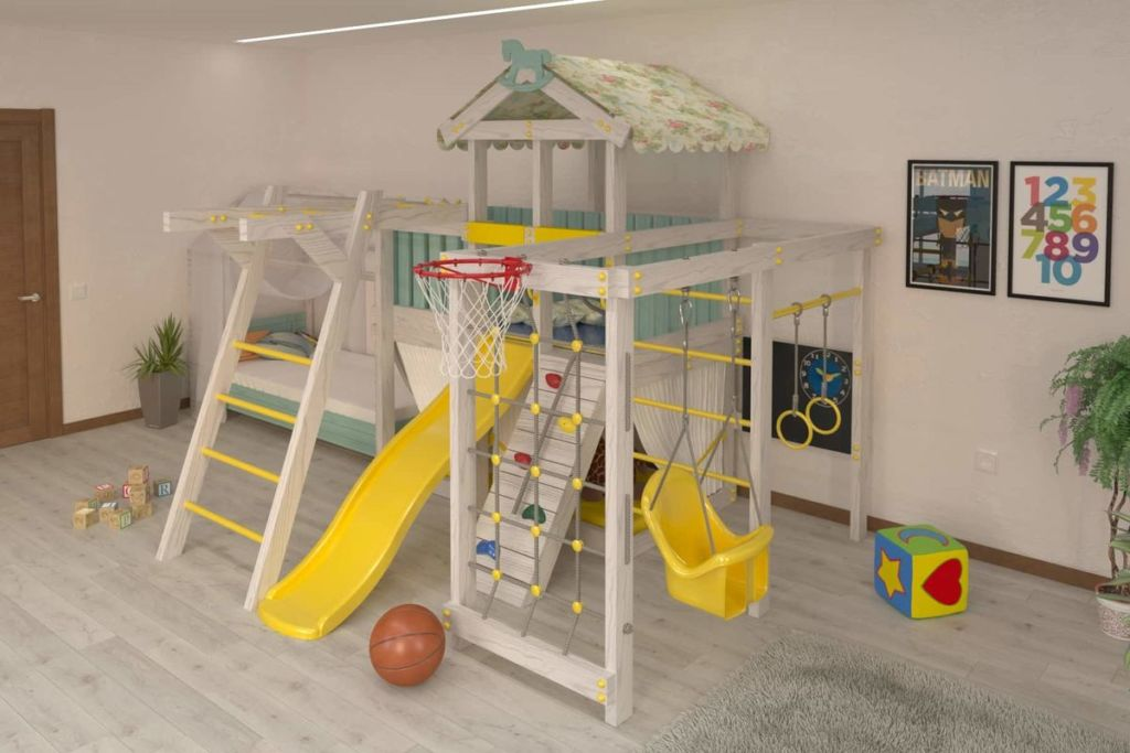 Спортивные кровати домики подходят в основном для малышей