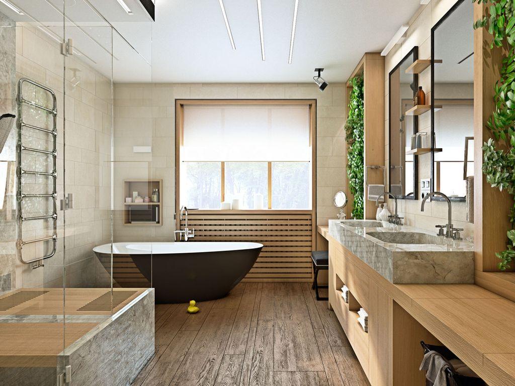 Большая ванная комната для большой семьи