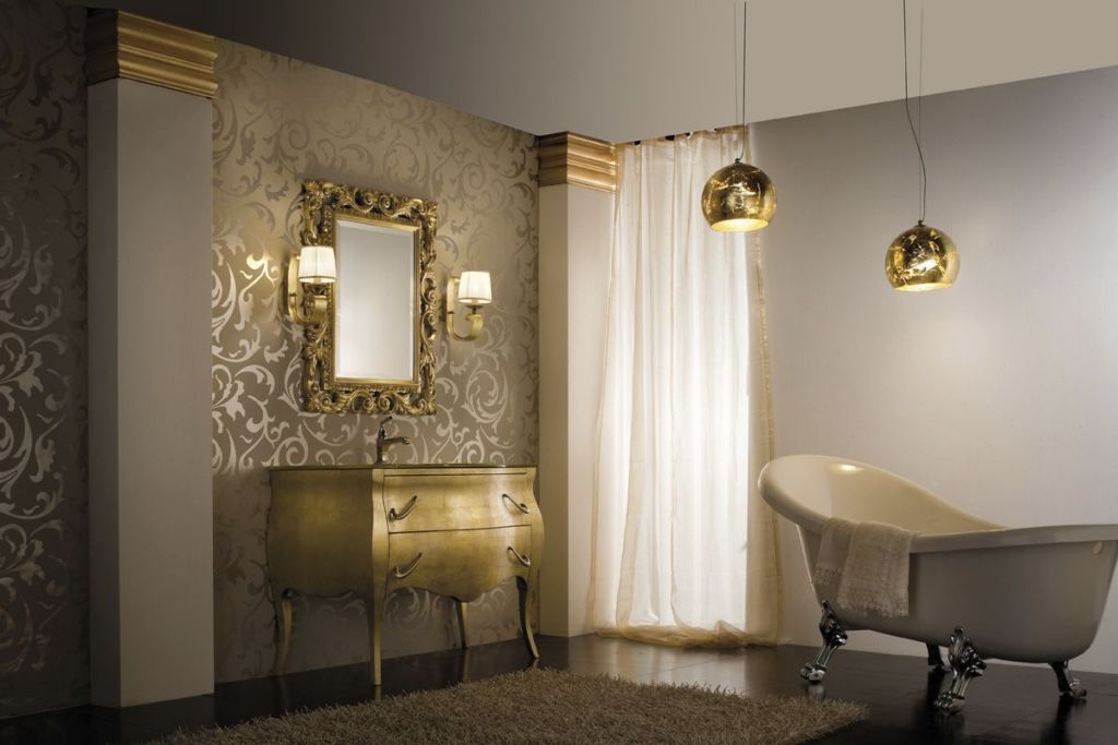 Навесные светильники в ванной комнате