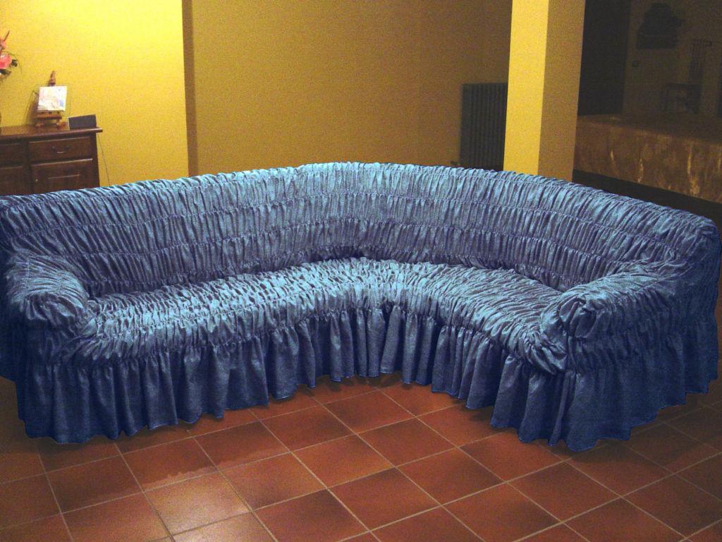 Простая инструкция, как надеть еврочехол на угловой диван