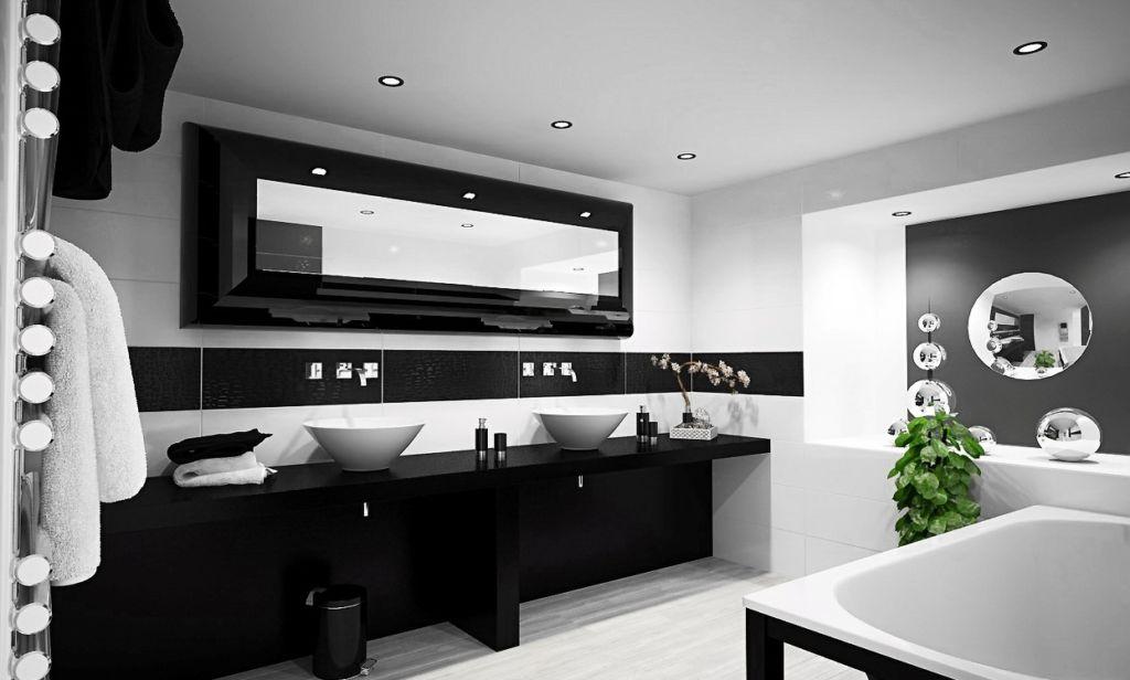 16 фото эффектного оформления черно-белых ванных комнат