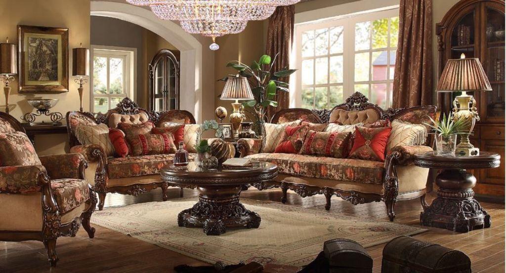 Интерьер гостиной с классическим дизайном