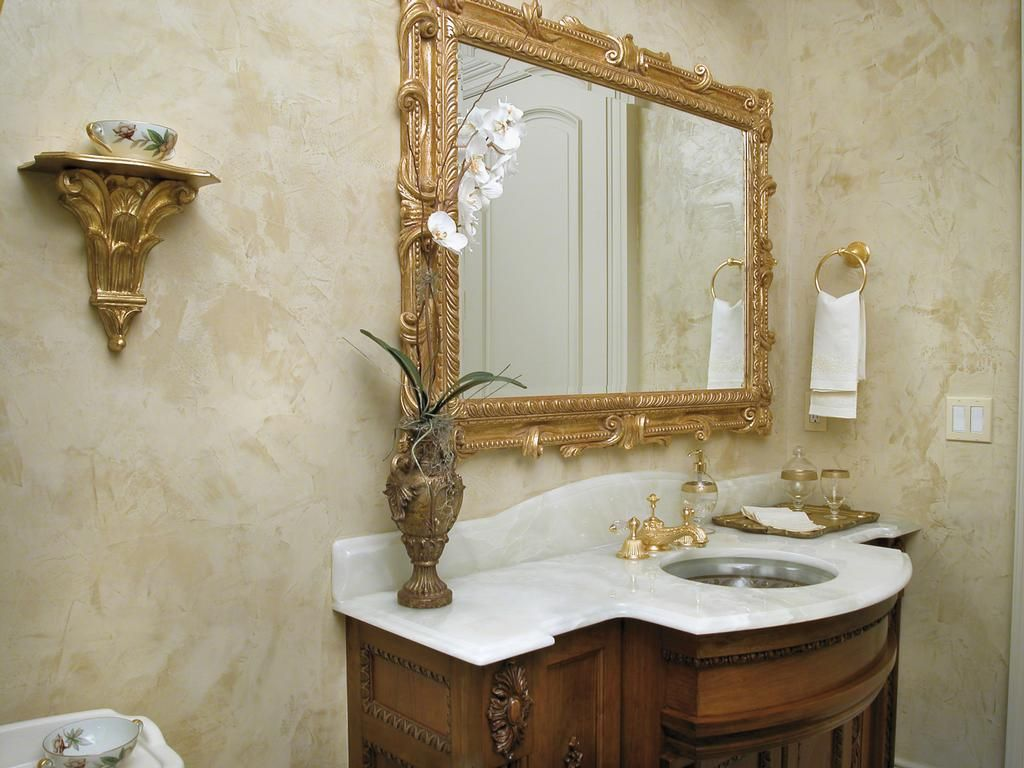Декоративная штукатурка в ванной комнате