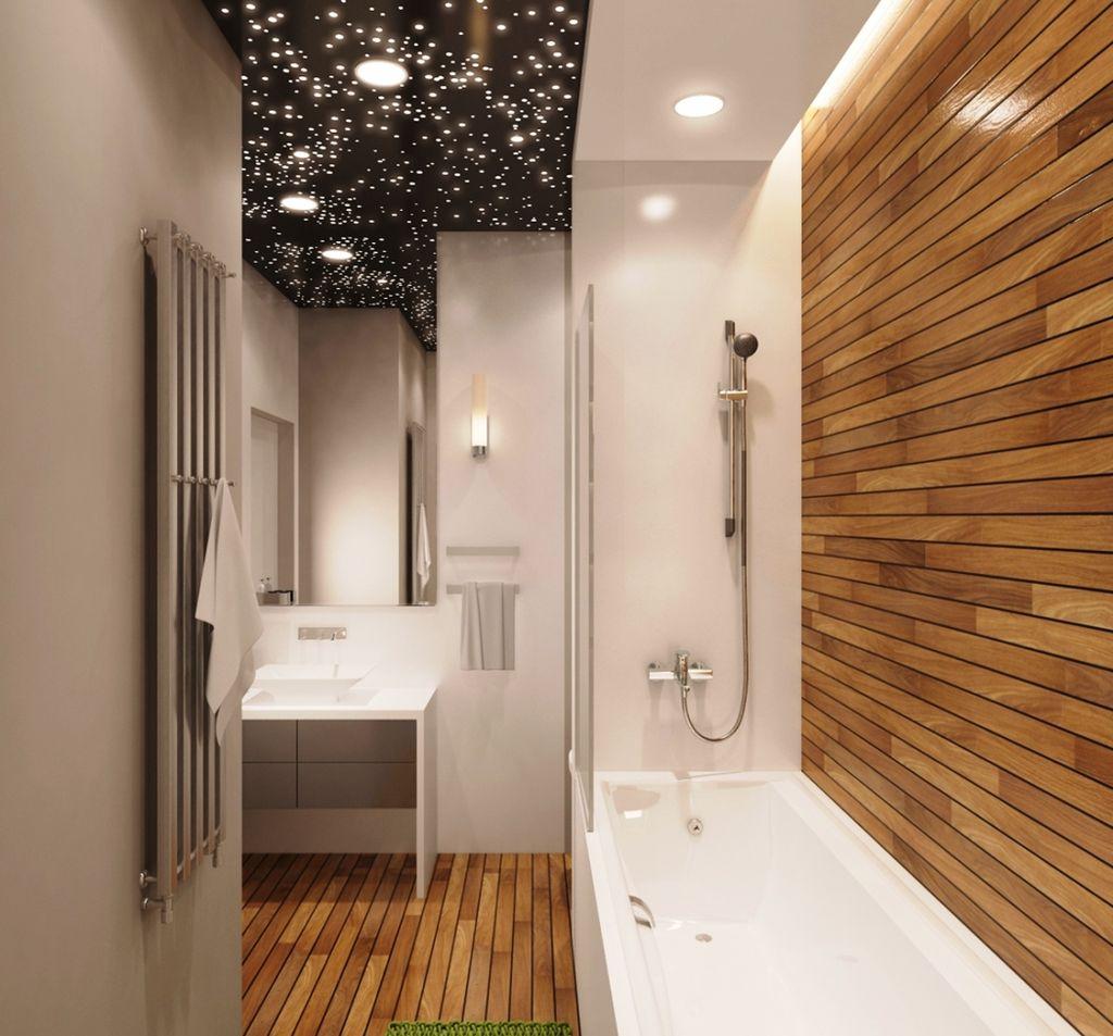 Горизонтальные полосы способны увеличить восприятие длины ванной