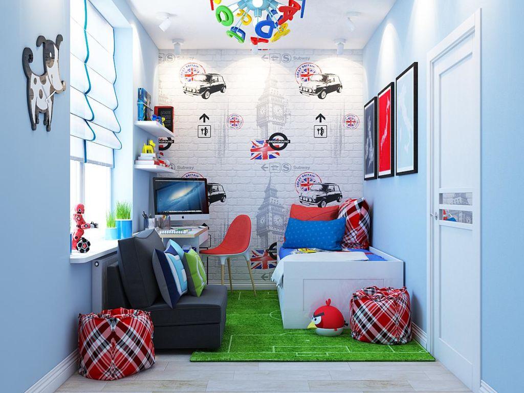 Кирпичную стену в детской можно покрасить в белый или молочный цвета