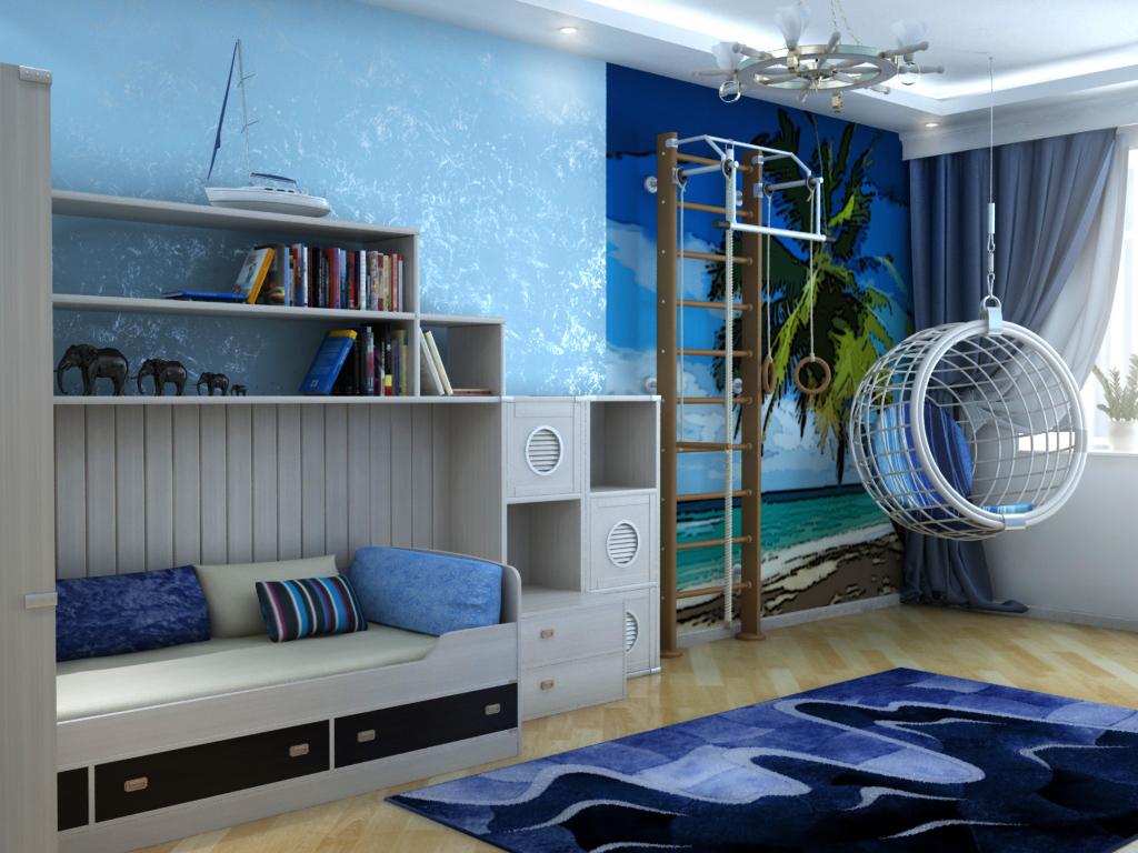 Детская комната в морском стиле – это модно и нравится детям