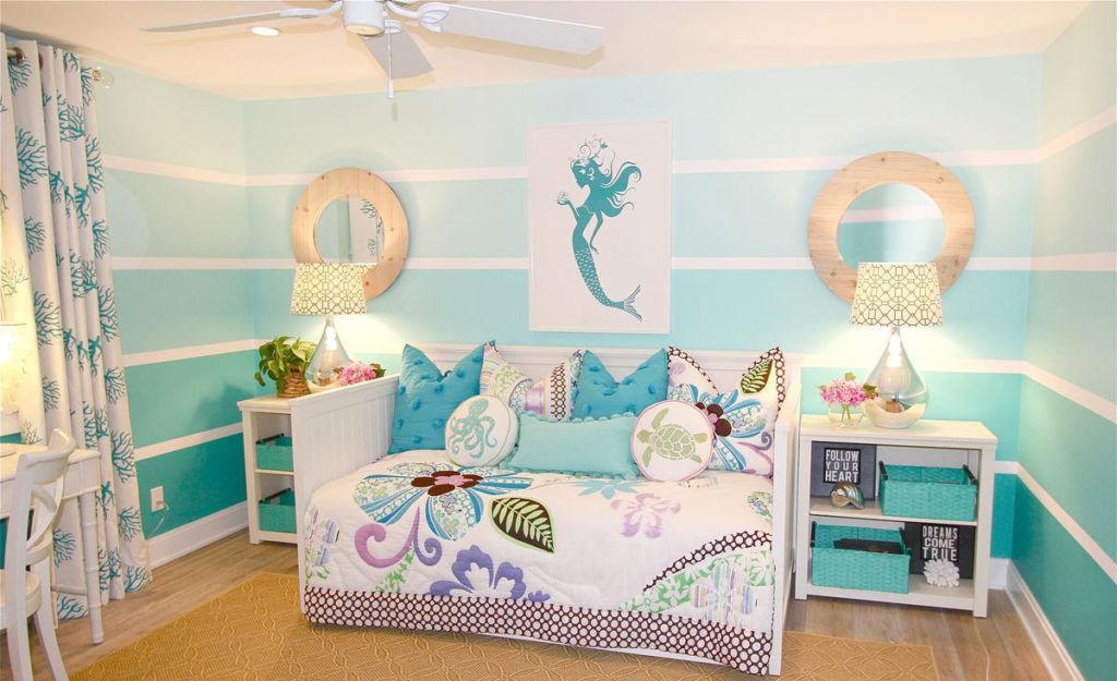 Морская детская комната для девочки