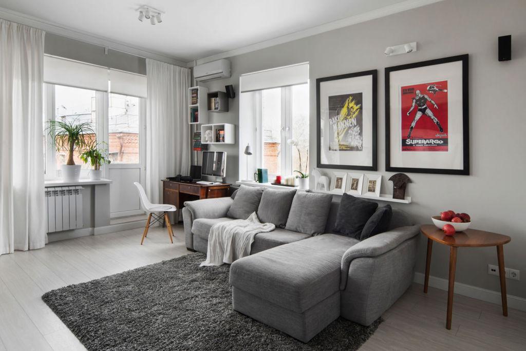 Дополнительный цвет используют в аксессуарах, мебели, текстиле и как графический элемент в оформлении стен и пола
