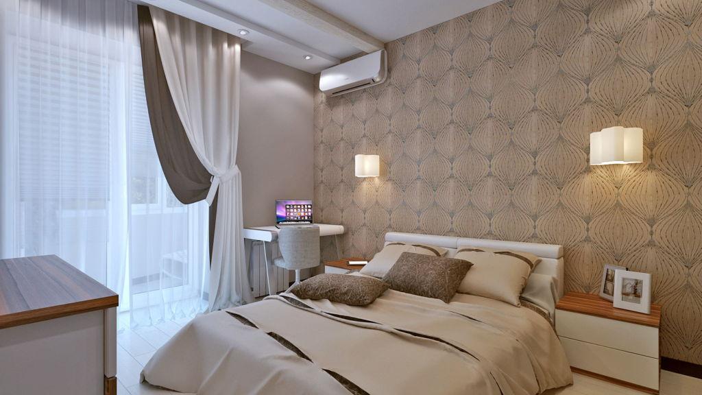 Спальня в коричневых тонах — это уют и умиротворение в сочетании с классикой