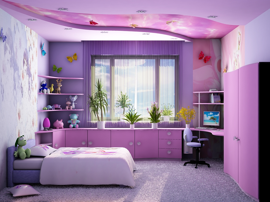 Современный дизайн спальни для девочки-подростка