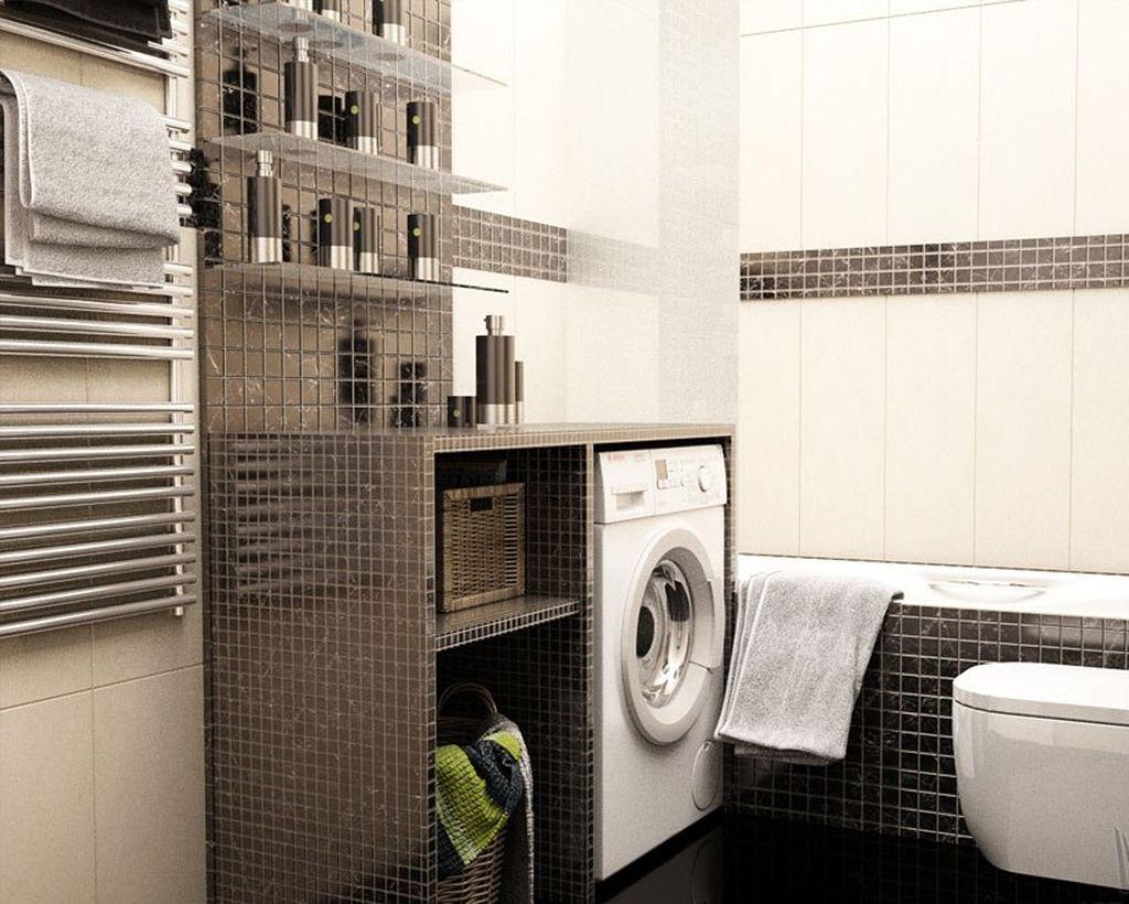 Даже в ванной площадью 6 квадратов вполне можно уместить и обязательные элементы, и технику