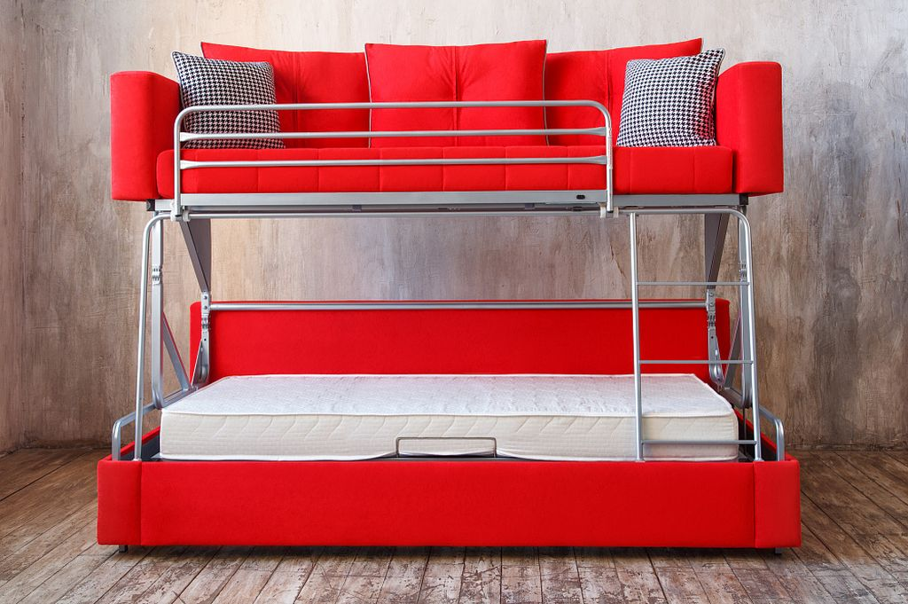 Диван-трансформер с двухъярусной кроватью