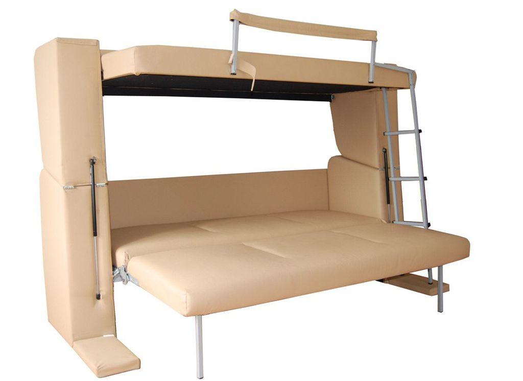 Существует также разновидность, при которой на первом ярусе получается двуспальная кровать