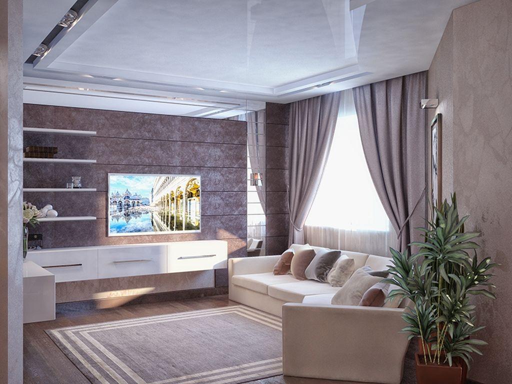 Серые шторы хорошо сочетаются со светлой обивкой дивана