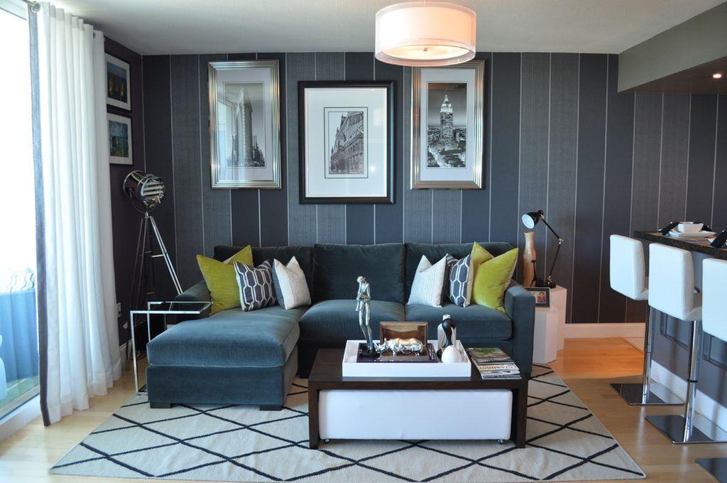 Отличное сочетание цвета стен и обивки углового дивана