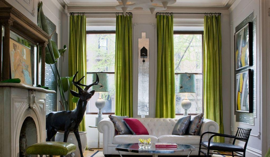 Маленькая гостиная в зеленом цвете