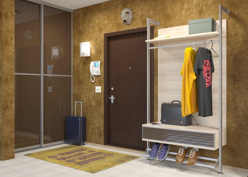 В гардеробной открытого типа удобно хранить вещи и аксессуары, которые используются часто