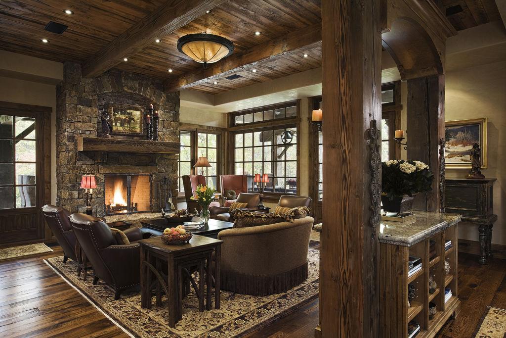 25 идей по оформлению зала и гостиной в стиле кантри