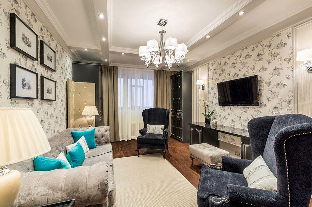 Дизайн гостиной площадью 17 кв.м.