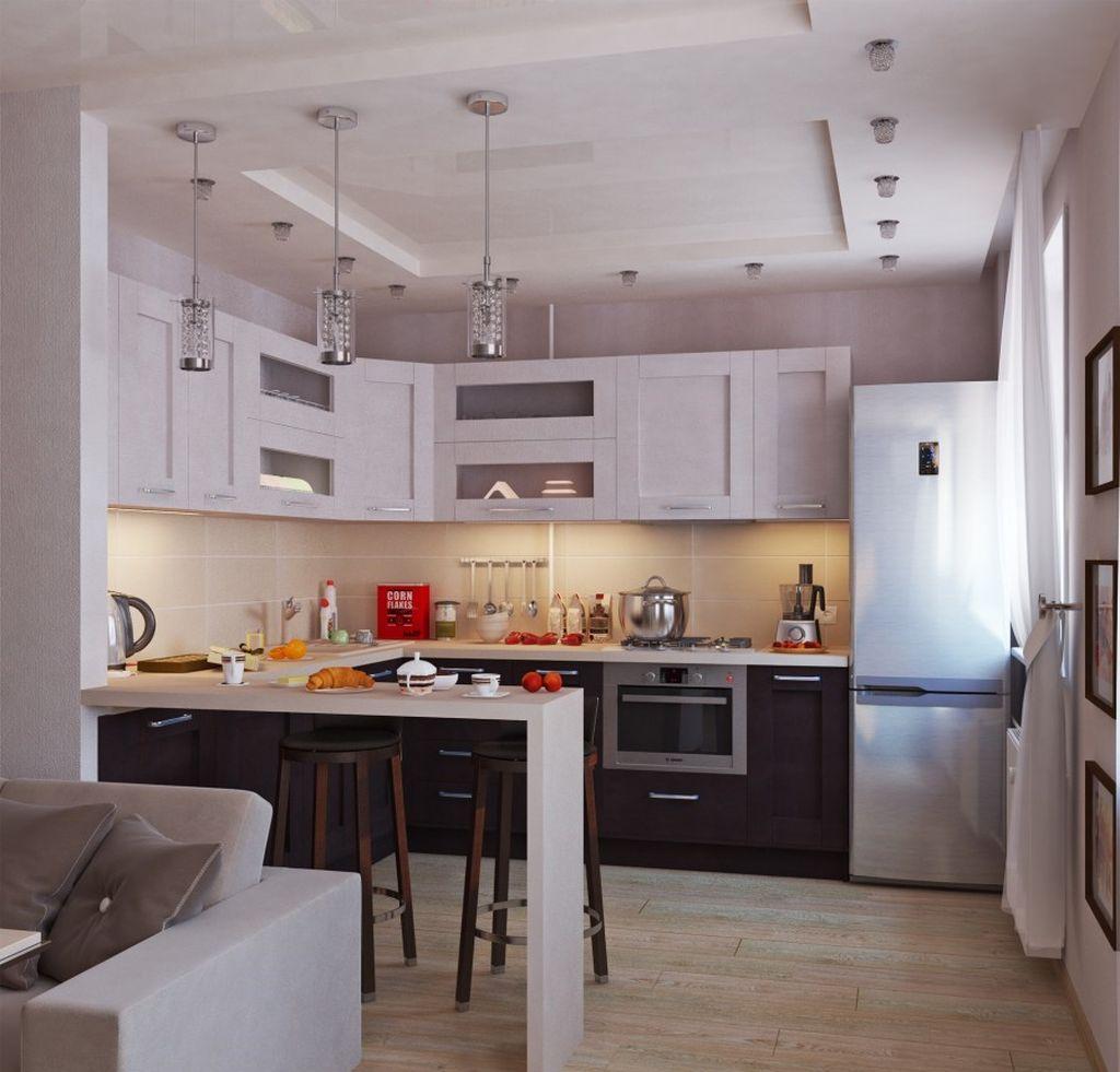 При желании увеличить площадь, можно объединить кухню и зал