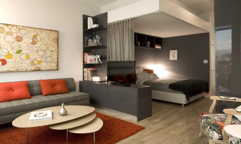 Дизайн гостиной со спальными местами