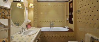 Главные акценты при оформлении ванной в классическом стиле