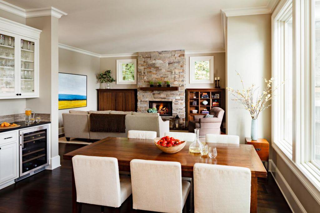 Г-образная кухня гостиная