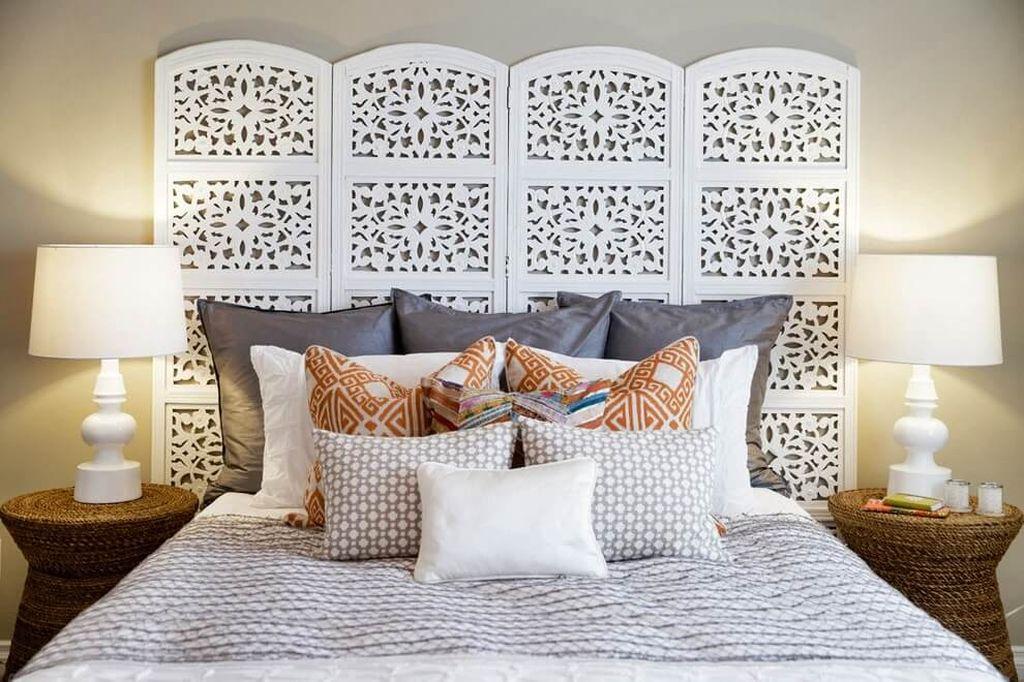 декор изголовья кровати своими руками фото отделка стен