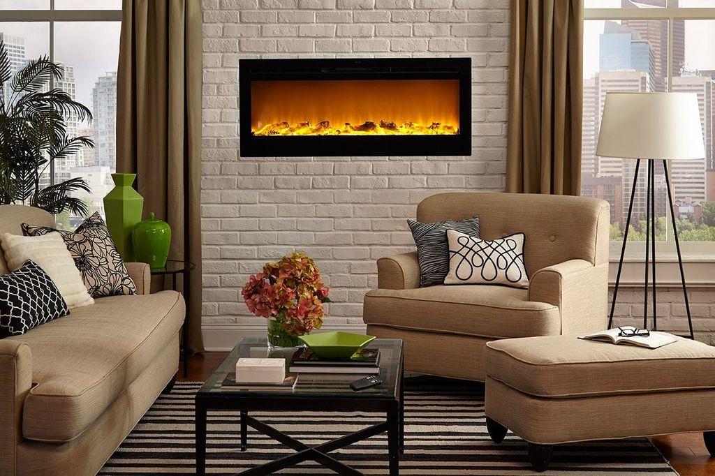 Электрический камин считается оптимальным для квартиры