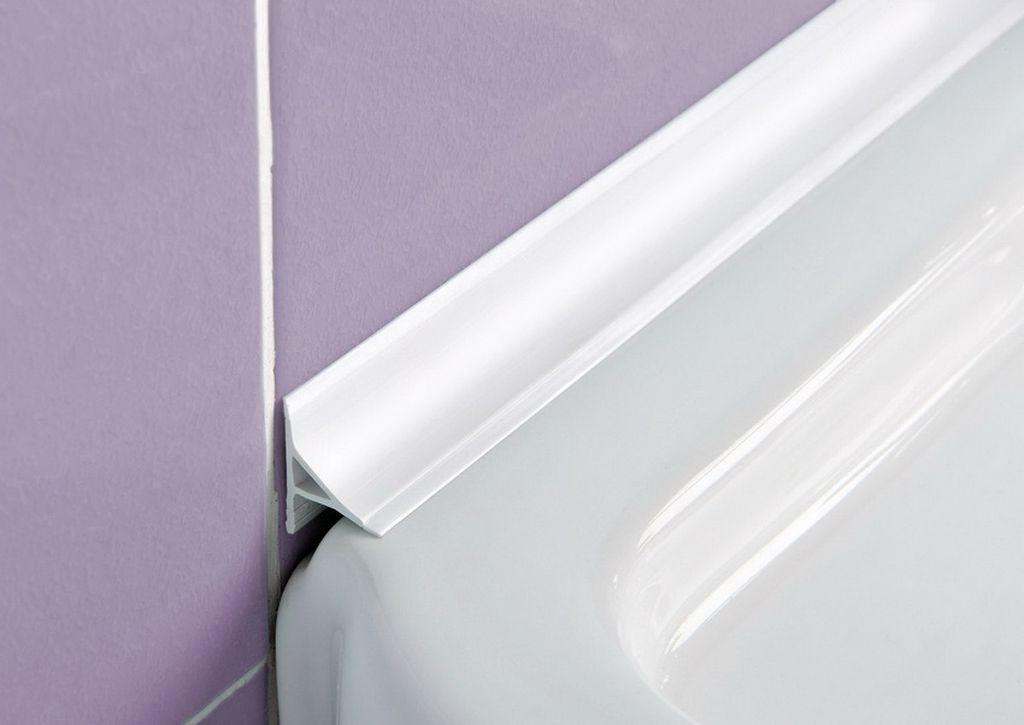 Для акриловой ванны подойдет только акриловый плинтус