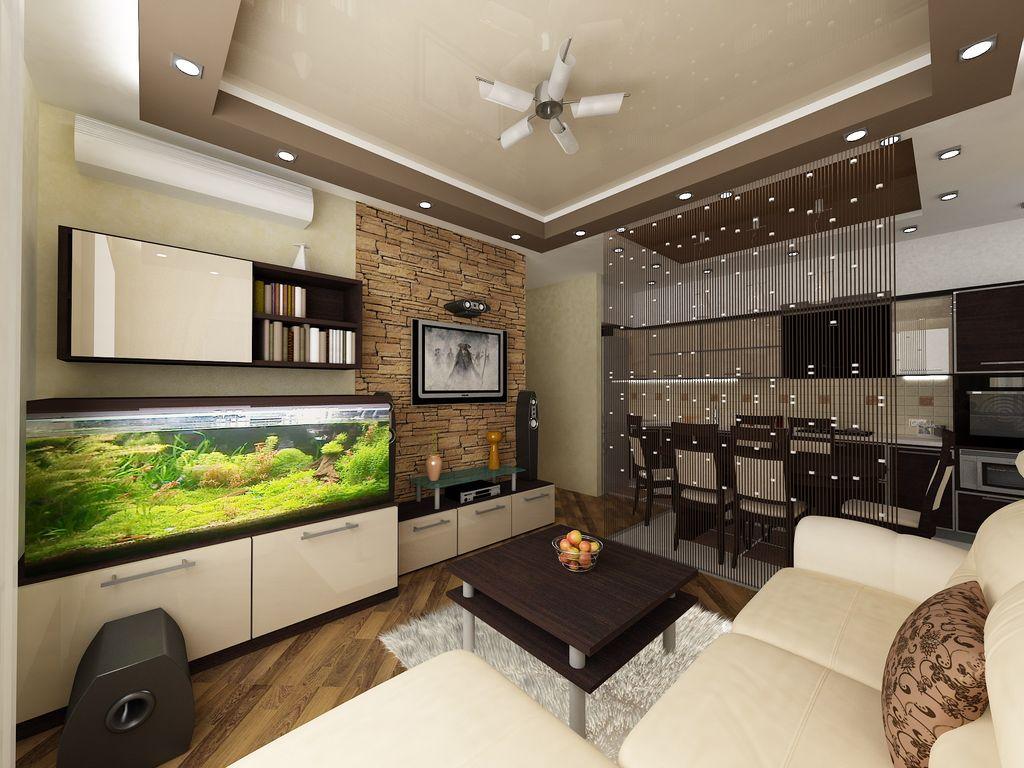 Потолок также может являться элементом зонирования