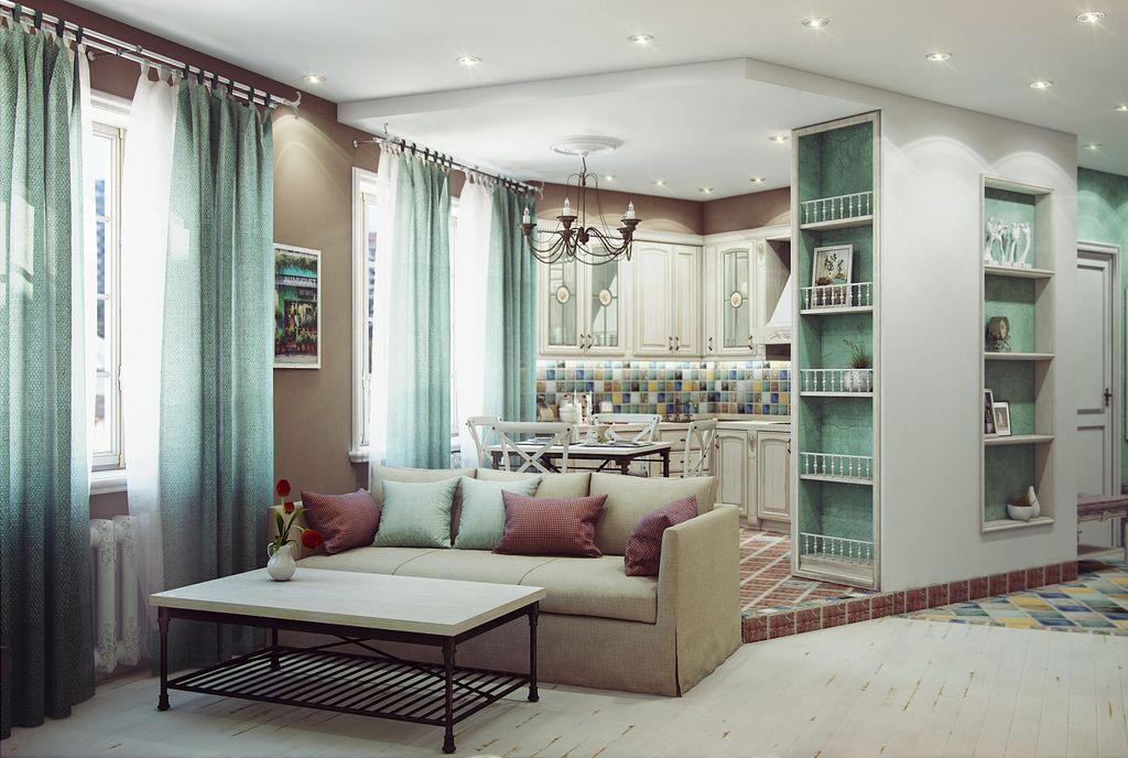 Двухуровневый пол можно обустроить в квартире с высокими потолками