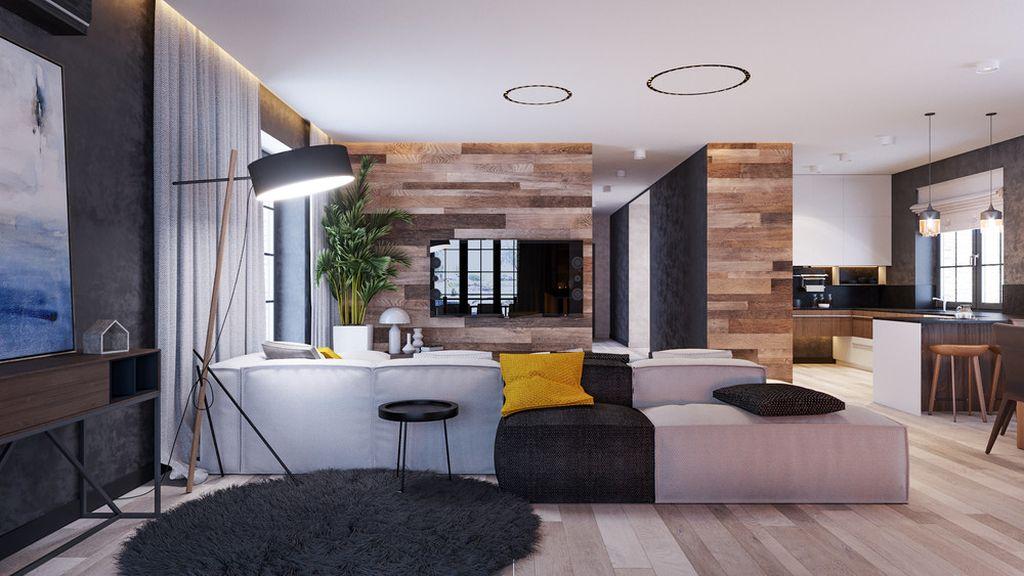 Чтобы разделить пространство на зоны можно использовать мебель