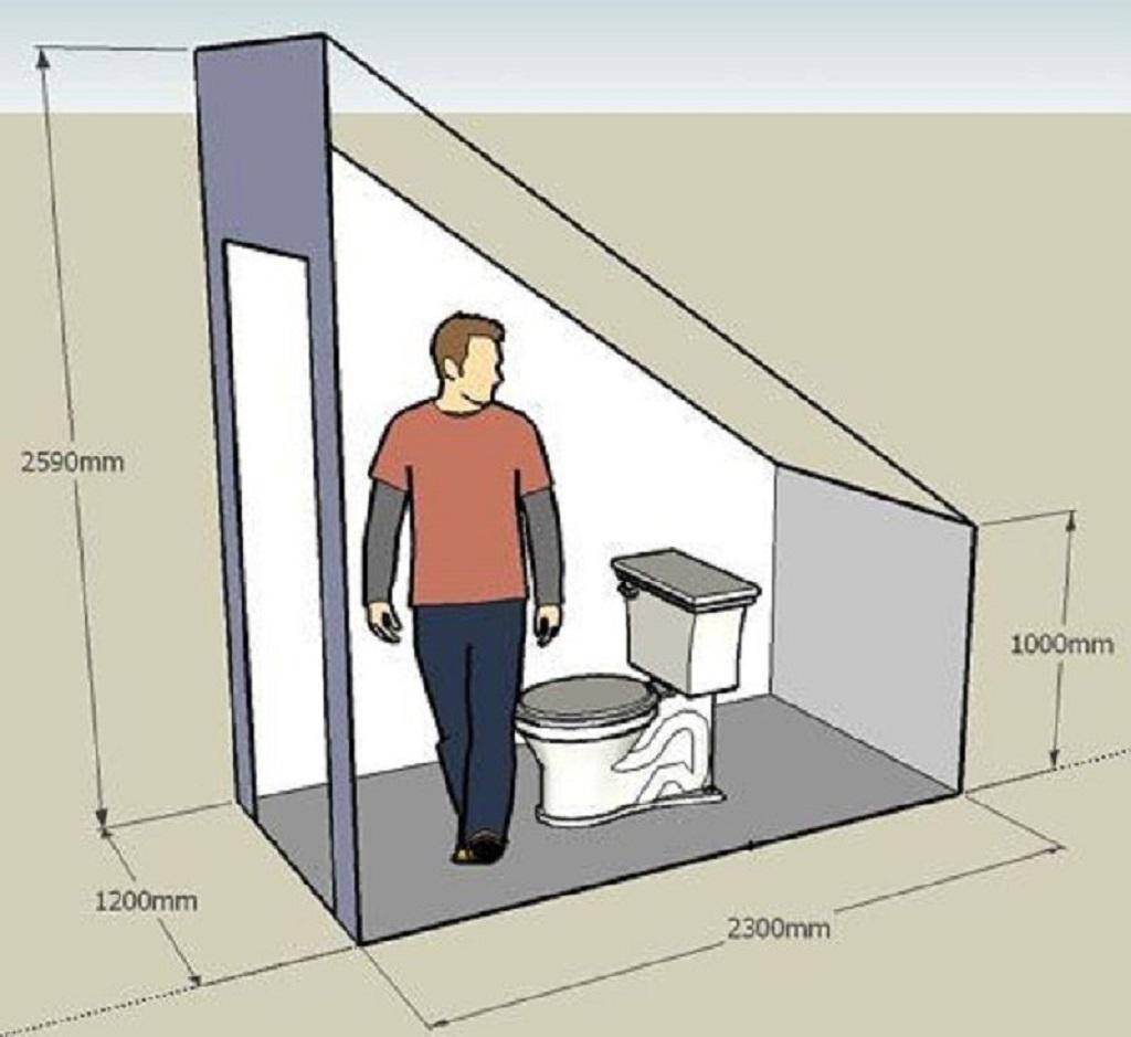 Для туалета понадобится помещение определенных размеров
