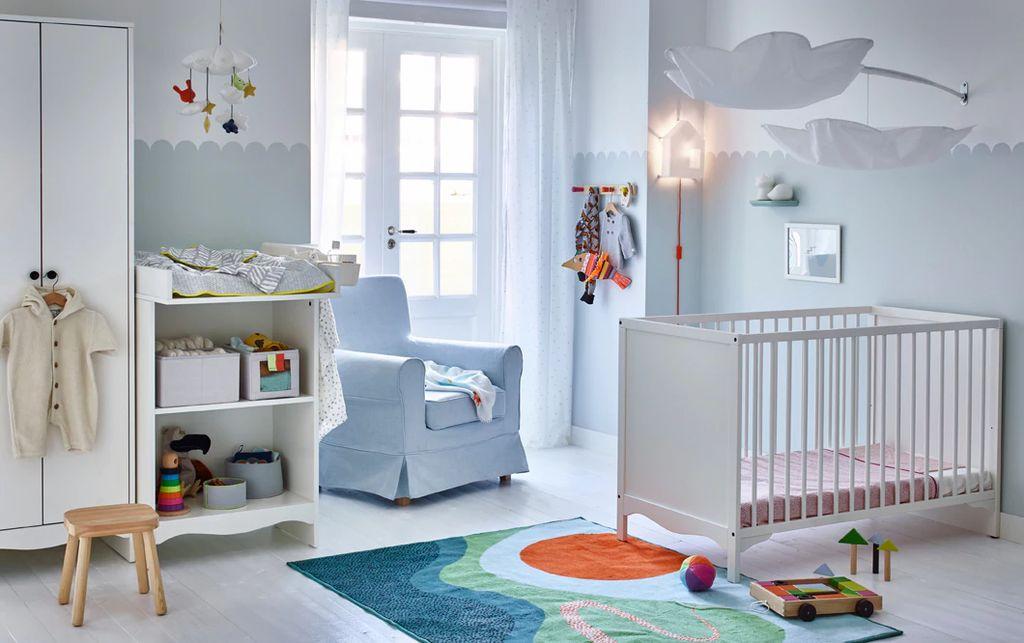 Дизайнеры советуют не использовать ярким и контрастных цветов в детской комнате