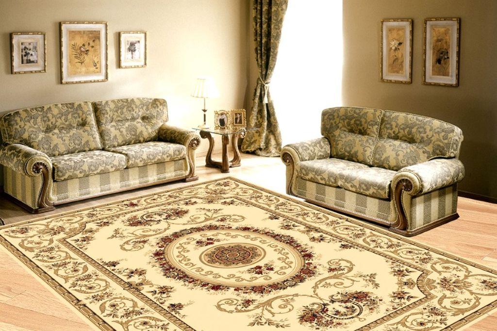 Классический стиль подразумевает использование роскошных ковров