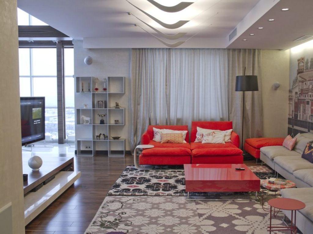 Гостиная в современном стиле модерн