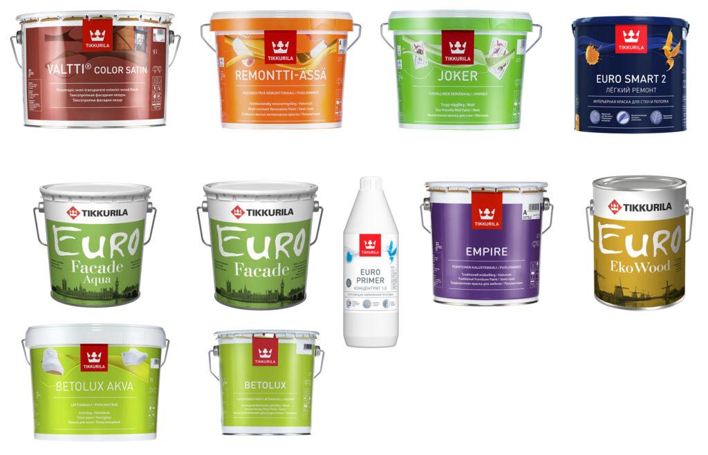 Разные виды красок Краска для мебели Тиккурила