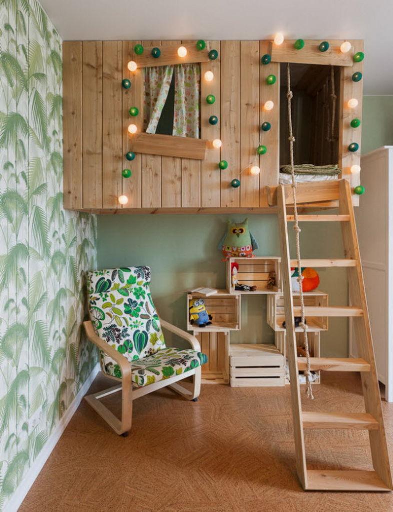 Все дети мечтают о домике на дереве. Эту идею можно воплотить и в домашних условиях
