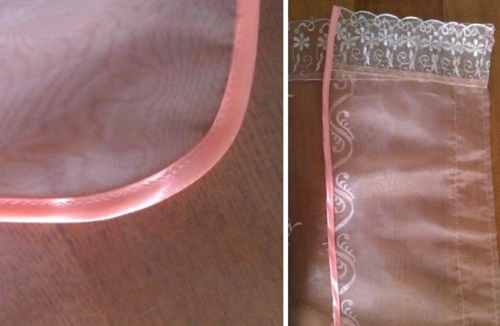 Украсьте ткань не только атласной лентой, но и кружевами
