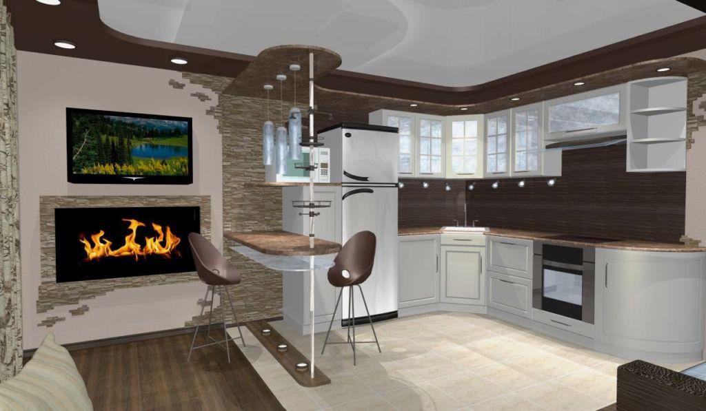 20 идей барной стойки между кухней и гостиной