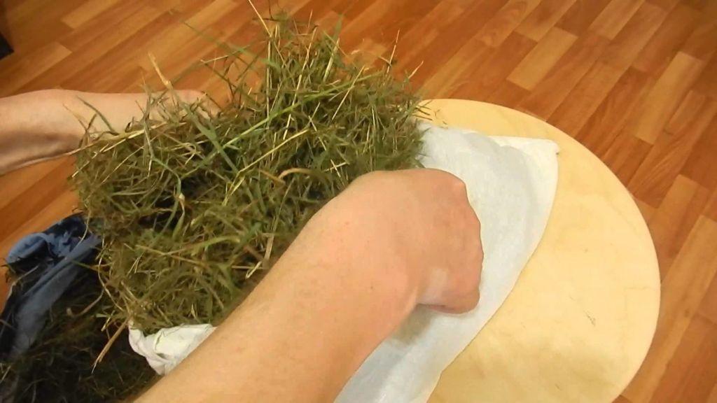 Сухая трава и сено