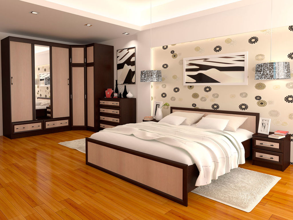 Модульная мебель в спальню модерн