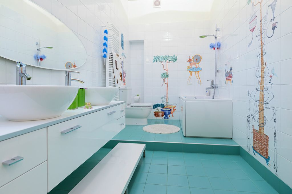 Наклейки на плитку в ванную