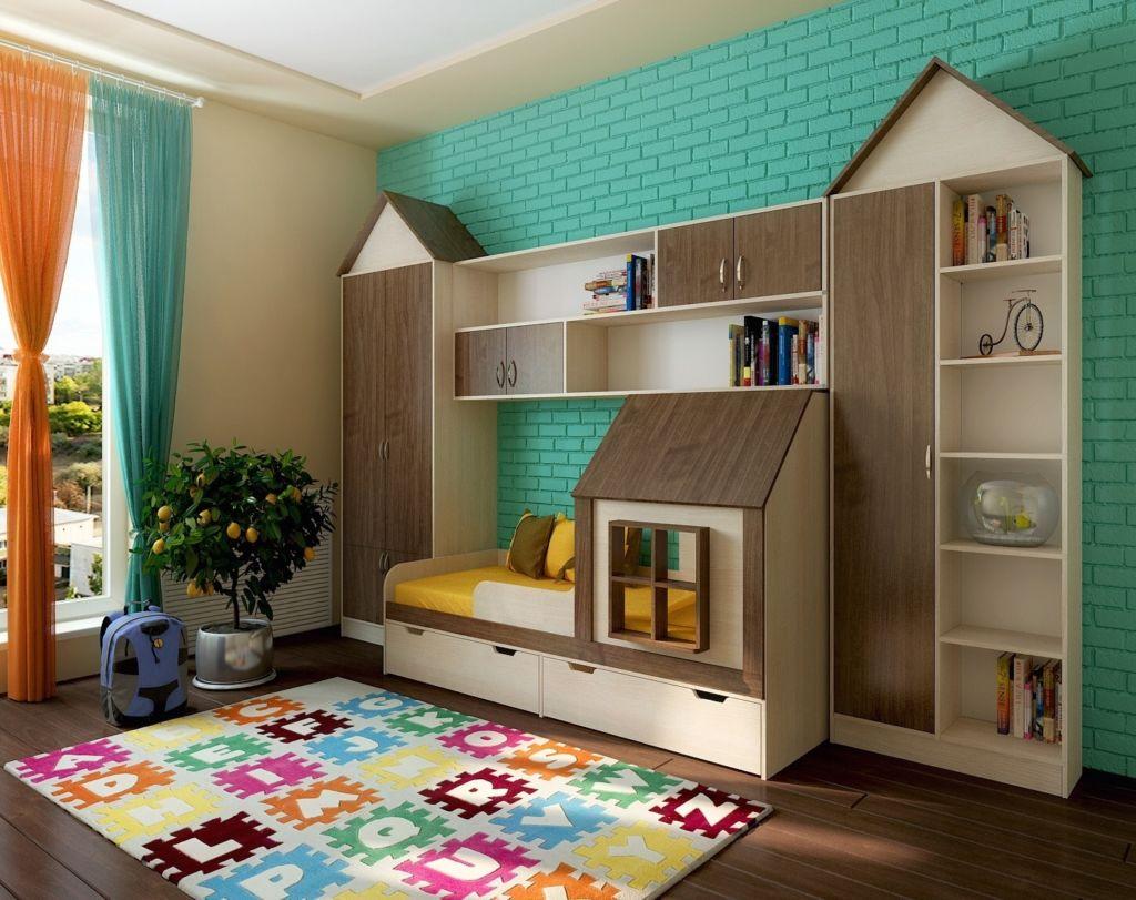 кровать дом для подростка более функционален