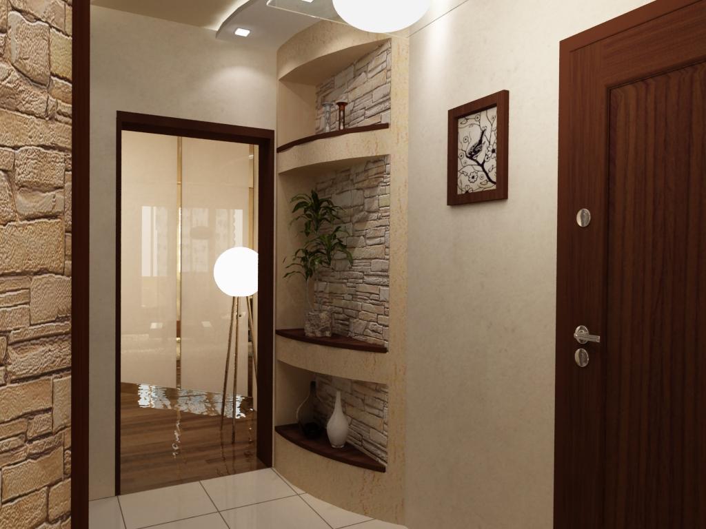 Комбинирование обоев в прихожей поможет не только создать свой особенный интерьер комнаты, но и визуально её расширит