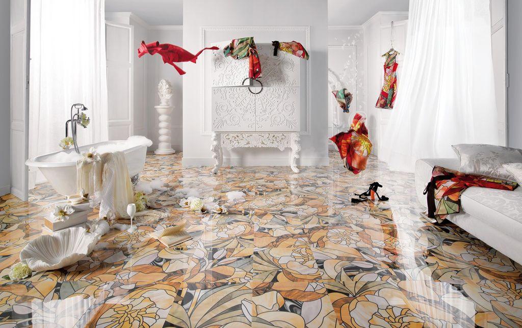 Чем больше площадь ванной комнаты, тем крупнее по размерам должен быть кафель