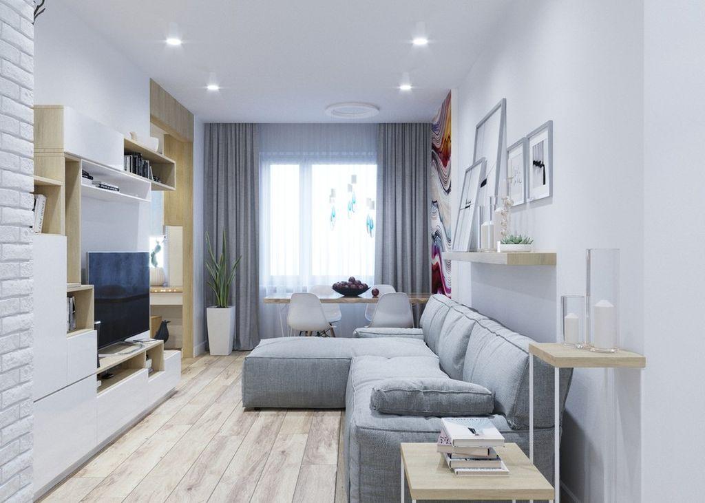 Скандинавскому стилю характерны белые цвета и дерево
