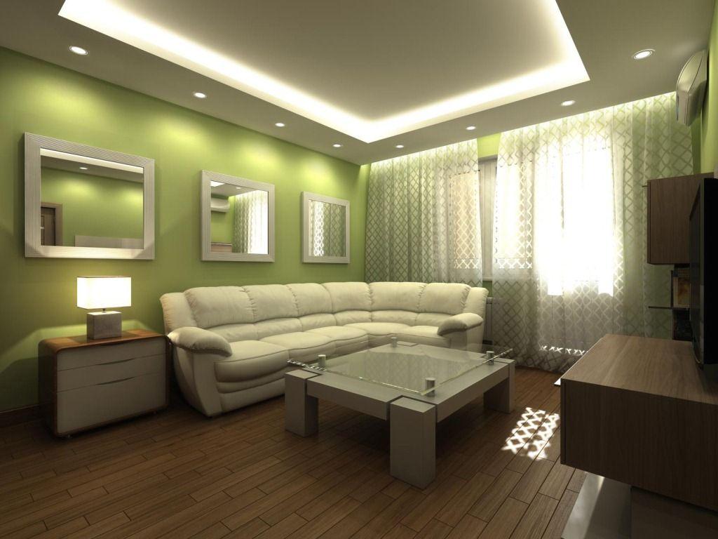 Подвесные потолки чаще всего представляют конструкцию из гипсокартона